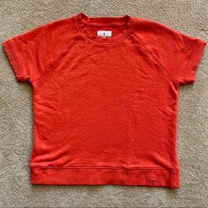 Lou & Grey Orange Short Sleeve Sweatshirt